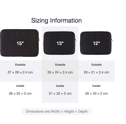 LaptopSleeve_SizeChart